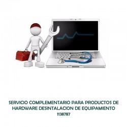 SERVICIO COMPLEMENTARIO PARA PRODUCTOS DE HARDWARE - DESINTALACION DE EQUIPAMIENTO  - 0 - 1138787