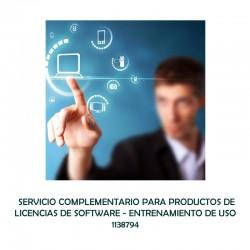 SERVICIO COMPLEMENTARIO PARA PRODUCTOS DE LICENCIAS DE SOFTWARE - ENTRENAMIENTO DE USO  - 0 - 1138794