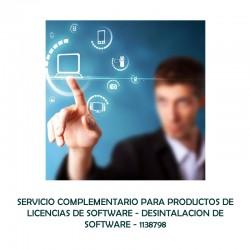 SERVICIO COMPLEMENTARIO PARA PRODUCTOS DE LICENCIAS DE SOFTWARE - DESINTALACION DE SOFTWARE  - 0 - 1138798