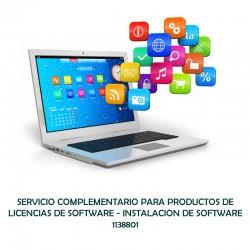SERVICIO COMPLEMENTARIO PARA PRODUCTOS DE LICENCIAS DE SOFTWARE - INSTALACION DE SOFTWARE  - 0 - 1138801