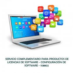 SERVICIO COMPLEMENTARIO PARA PRODUCTOS DE LICENCIAS DE SOFTWARE - CONFIGURACION DE SOFTWARE  - 0 - 1138802
