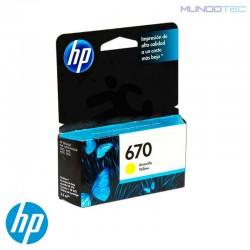 CARTUCHO DE TINTA HP 670 AMARILLO - 1011308