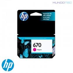 CARTUCHO DE TINTA HP 670 MAGENTA UNIDAD - 1011310 - CZ115AL