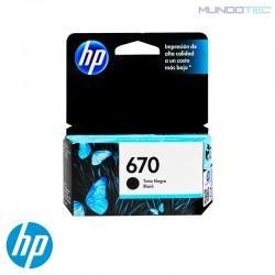 CARTUCHO DE TINTA HP 670 NEGRO UNIDAD - 1011311 - CZ113AL