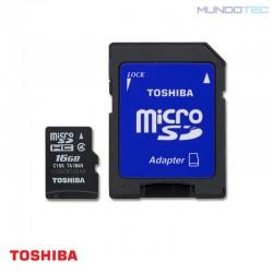 MEMORIA FLASH TOSHIBA MICRO SD HC 16GB CLASE 4 -  PFM016U-1DAK  - UNIDAD