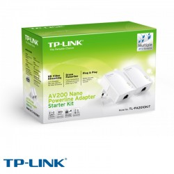 ACCESS POINT TP-LINK KIT DE INICIO DEL ADAPTADOR NANO POWERLINE AV200 TL-PA2010KIT  UNIDAD