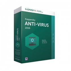 LICENCIA KASPERSKY ANTI-VIRUS 2016 - 1 USER - 1ANO UNIDAD